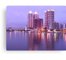 Colorful Love River at Night Canvas Print