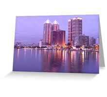 Colorful Love River at Night Greeting Card