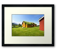 Green Roofs of Norway Framed Print