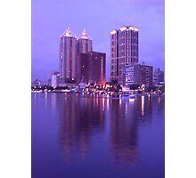 Riverside Modern Buildings Photographic Print
