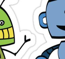 robot friends Sticker