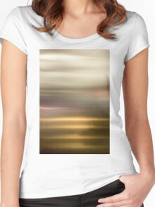 Golden Abstract brilliant colorful abstract Women's Fitted Scoop T-Shirt