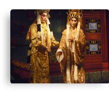 Ancient Cantonese Opera Costumes Canvas Print