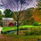 Autumn at Wayside Grist Mill by Monica M. Scanlan