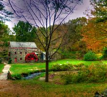 Autumn at Wayside Grist Mill by Monica M. Scanlan