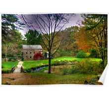 Autumn at Wayside Grist Mill Poster