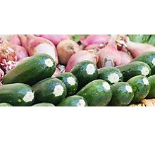 zucchini at the market Photographic Print