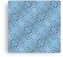 Jeans with flower cut outs Canvas Print
