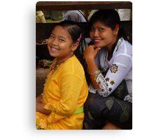 beautiful Balinese girls Canvas Print