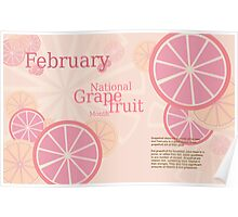 February - National Grapefruit Month Poster