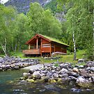 Log Cabin in Skjolden, Norway by SeeOneSoul