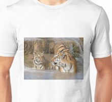 Tiger, Mother and Cub Unisex T-Shirt
