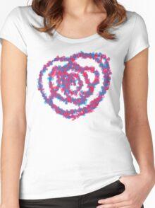 Flower Heart Women's Fitted Scoop T-Shirt