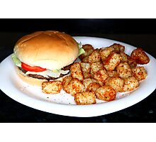 Bison Burger Photographic Print
