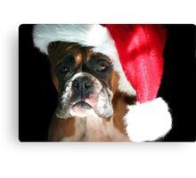 Christmas Boxer dog Canvas Print