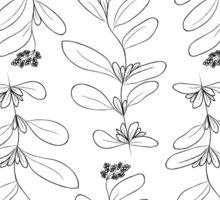 Hand drawn delicate decorative vintage leaves Sticker