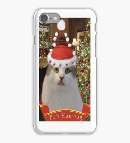 ✿♥‿♥✿   Bah Humbug Cat IPhone Case  ✿♥‿♥✿    iPhone Case/Skin