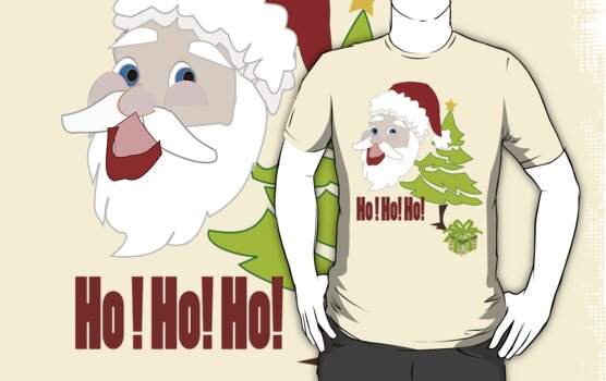 Santa T Shirt (1247 Views) by aldona
