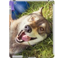 Siberian Husky dog Funny Portrait  iPad Case/Skin