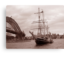 The Tall Ship & Sydney Harbour, NSW, Australia Canvas Print