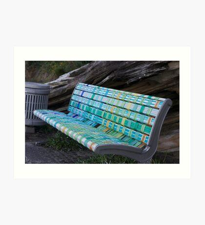 MULTI - COLOURED BENCH SEAT Art Print