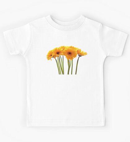 yellow flowers gerbera Kids Tee
