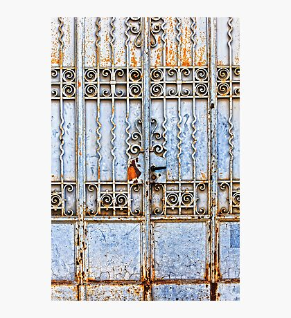 Rusty gate Photographic Print