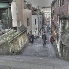 Christmas Steps in Bristol by Clive Lewis-Hopkins.