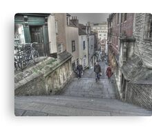 Christmas Steps in Bristol Canvas Print