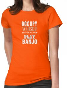 Occupy - play Womens Fitted T-Shirt