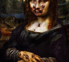 Moan A Lisa De Zombie (Print) by VON ZOMBIE ™©®