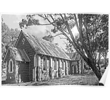 Church at Bookham B&W Poster