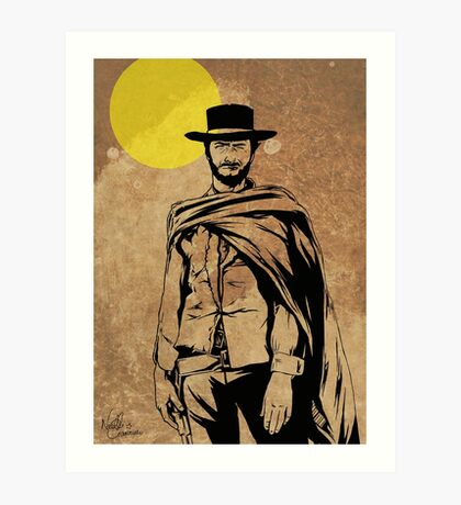 Cowboy legend - Clint Eastwood / Dirty Harry minimalist Art Print