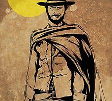 Cowboy legend - Clint Eastwood / Dirty Harry minimalist by GannucciArt