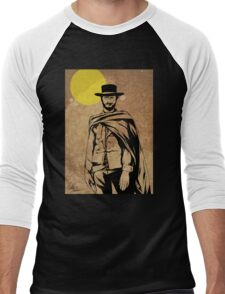 Cowboy legend - Clint Eastwood / Dirty Harry minimalist Men's Baseball ¾ T-Shirt