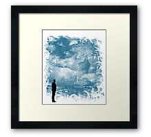 seaside call Framed Print