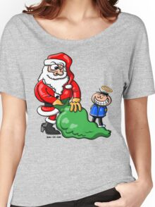 Santa Claus and Good Boy Women's Relaxed Fit T-Shirt