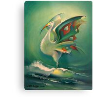 The Bird of Happiness on the Wave of Success! Metal Print