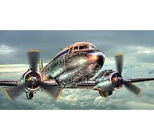 The Douglas C47 Dakota - HDR Photographic Print