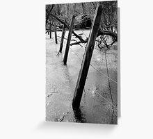 Fenceposts. Greeting Card
