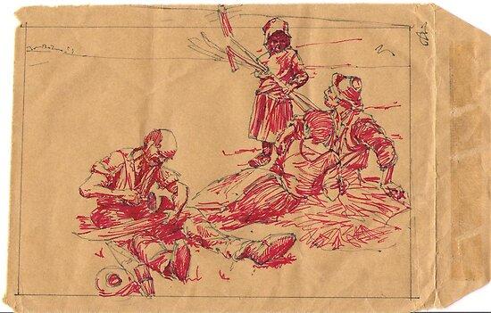 Ink Sketch After Lhermitte by burramys