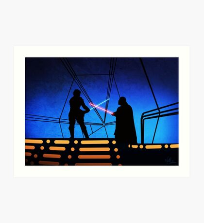 STAR WARS! Luke vs Darth Vader  Art Print