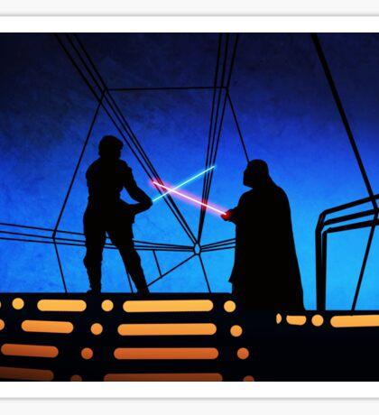 STAR WARS! Luke vs Darth Vader  Sticker