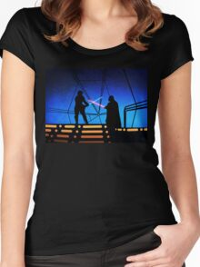 STAR WARS! Luke vs Darth Vader  Women's Fitted Scoop T-Shirt