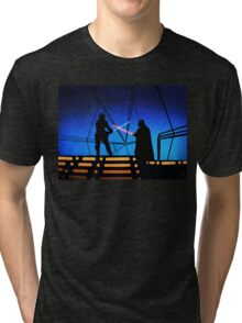STAR WARS! Luke vs Darth Vader  Tri-blend T-Shirt