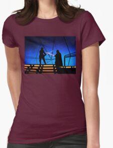 STAR WARS! Luke vs Darth Vader  Womens Fitted T-Shirt