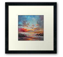 Red Eigg Framed Print