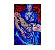 Blue Pieta 1 Art Print