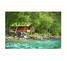 Living at the Water's Edge in Skjolden, Norway Art Print
