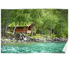 Living at the Water's Edge in Skjolden, Norway Poster